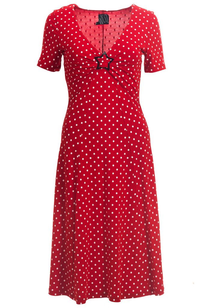 Must have red dotted retro inspired Pippa dress.