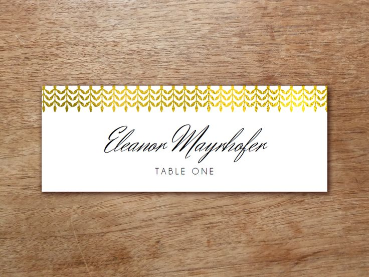 Best Printable Place Cards Images On   Card Patterns