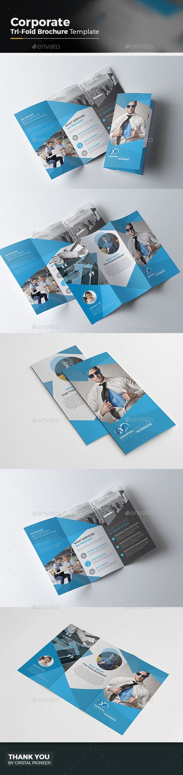 Corporate Tri fold Brochure Template Vector EPS, AI. Download here: http://graphicriver.net/item/corporate-tri-fold-brochure/15203634?ref=ksioks