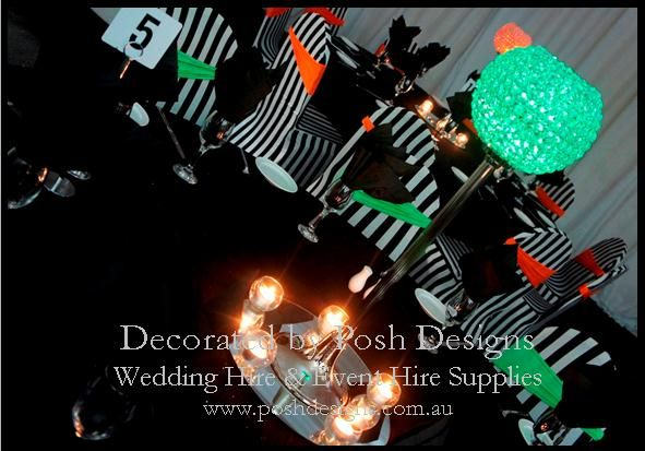 Orange and green lycra bands - #wedding and #event #theming available at #poshdesignsweddings - #sydneyweddings #countryweddings #southcoastweddings #wollongongweddings #ruffledsashes #weddingsashes All stock owned by Posh Designs Wedding & Event Supplies - lisa@poshdesigns.com.au or visit www.poshdesigns.com.au or www.facebook.com/poshdesigns.com.au #Wedding #reception #decorations #Outdoor #ceremony decorations #Corporate #event decoration #Fundraising event decoration #School #graduations