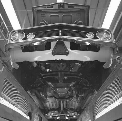 1967 Chevrolet Camaro on the assembly line.