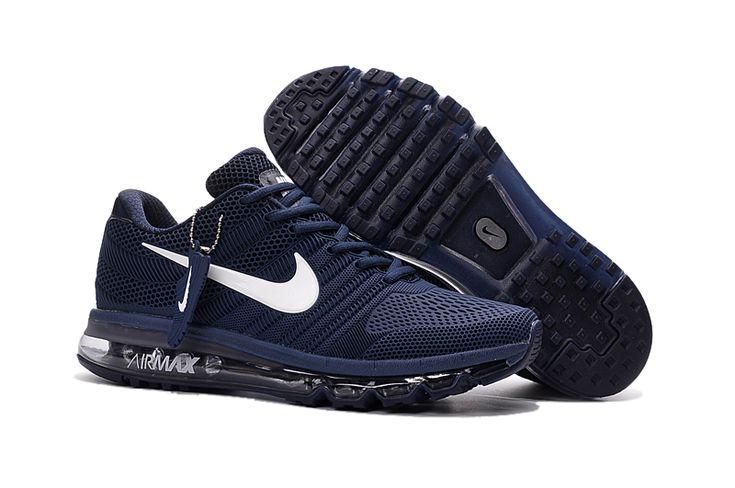 Nike Air Max 2017 2 Heren Loopschoenen Donkerblauw Wit