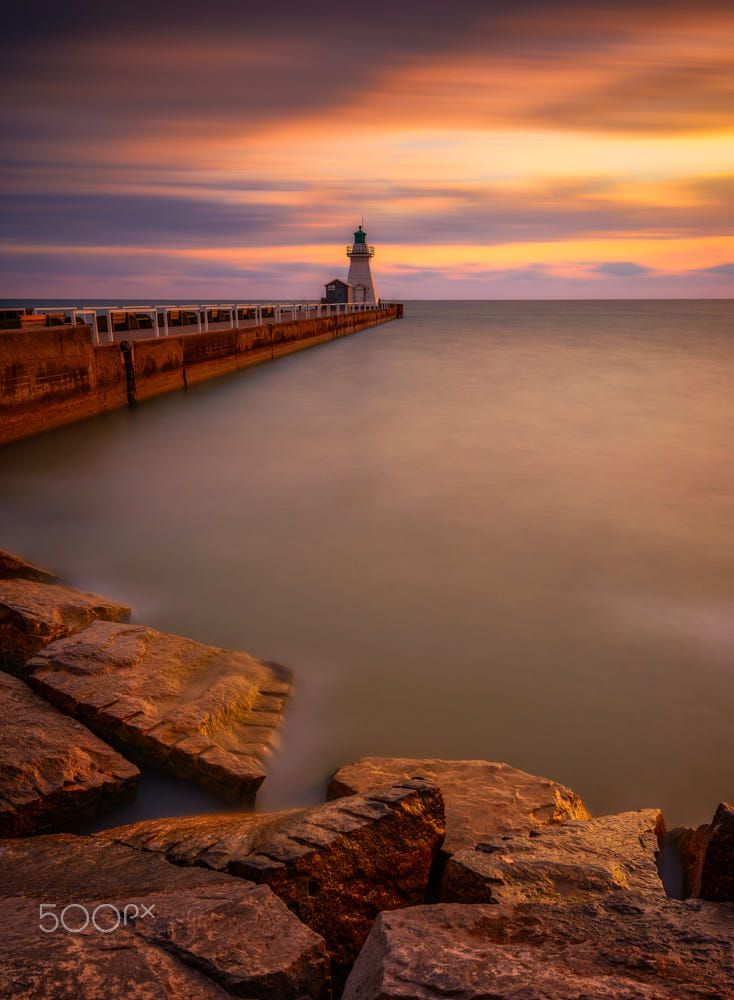The Lighthouse at Port Dover (Ontario) by Marvin Ramos on 500px