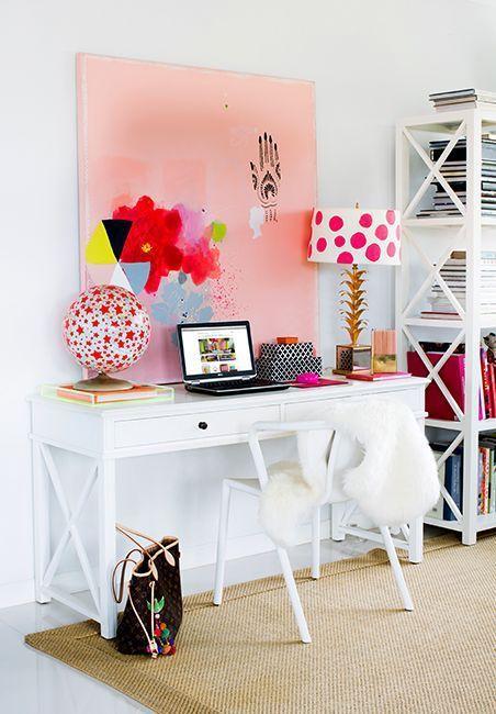 178 best Feminine Stylish Home Office Decor images on Pinterest