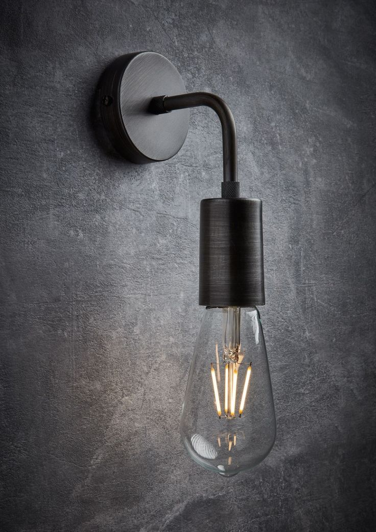 Our simple and sleek Vintage Edison Wall Light by Industville will not look out of place hung anywhere in the home. Handmade from pure brushed pewter, this vintage industrial lighting fixture is ideal for urban homes