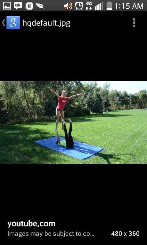Really easy two person acro/cheer stunt