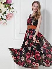 6006#数码印花连衣裙(送腰带)  – JPY ¥ 3,460