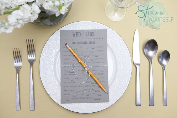 #DIYwedding ~ FREE printable wedding Mad Libs! Themes -proposal, bachelorette, and honeymoon!: Proposals Stories, Engagement Parties, Madlib, Wedding Ideas, Mad Libs, Cute Ideas, Bridal Shower Games, Places Sets, Diy Wedding