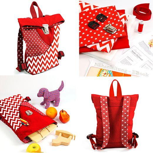Naehkit und Nähpaket Nähanleitung und Schnittmuster in Papierform Kindergartenrucksack Kinder Rucksack #frauscheiner