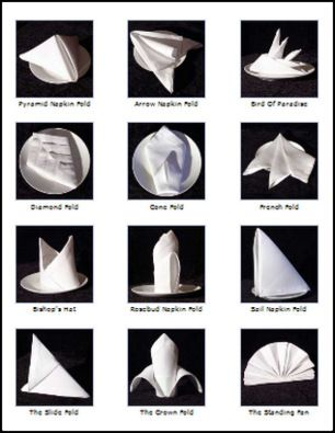 Fancy Napkin Folds