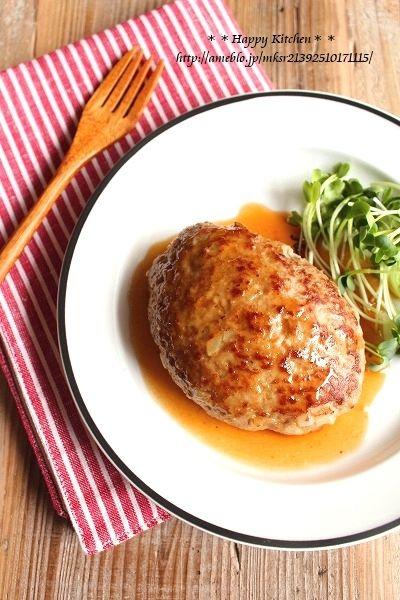 ふっくら簡単*甘辛照り焼きマヨソースハンバーグ  たっきーママ オフィシャルブログ「たっきーママ@happy kitchen」Powered by Ameba