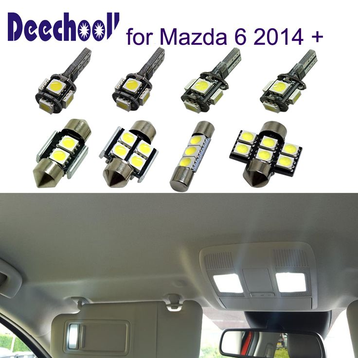 Deechooll 18pcs Car LED Light for Mazda 6 2014 up ,White Interior Light Bulb for Mazda 6 2014 2015 2016 2017 Reading Dome Light. Yesterday's price: US $25.00 (20.74 EUR). Today's price: US $19.00 (15.76 EUR). Discount: 24%.