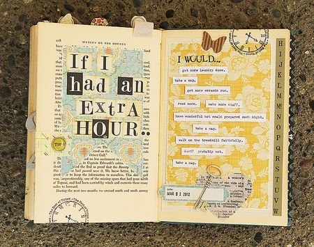 Love this! so many inspiring things have been posted lately in old books i am stopping at the used book store on my way home and starting one!