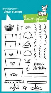 *Lawn Fawn BAKE ME A CAKE Clear Stamps