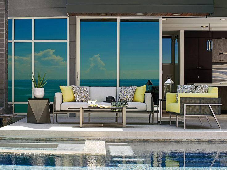The Tommy Bahama Del Mar Outdoor Living Collection Features Sleek  Architectural Lines, A Fusion Of