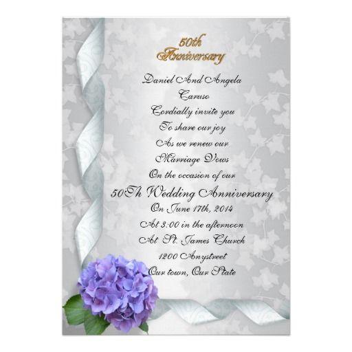 50th Wedding Anniversary Vows Renewal