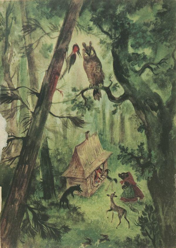 Illustration by Jan Marcin Szancer for Brzechwa Dzieciom, 1955
