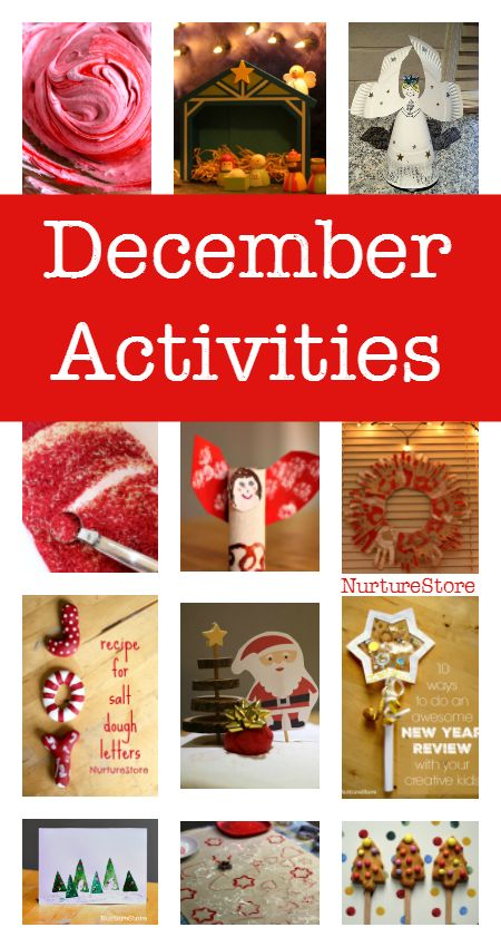 December acttivities for kids - ideas for something to do every day in December :: Christmas crafts, activities and play ideas