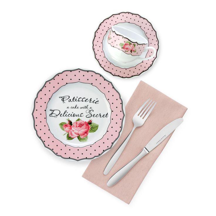 Rosy Kahvaltı Takımı - Kahvaltı Takımları - Porselen Kahvaltı Takımları - bernardo