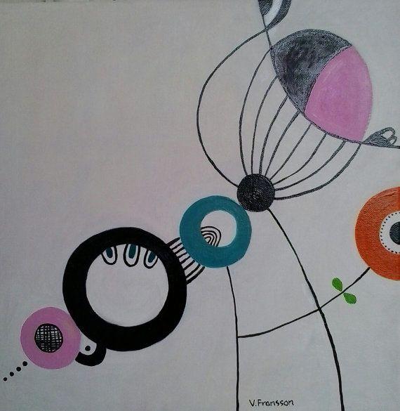 Modern painting no 2 by StudioMagentaVF on Etsy
