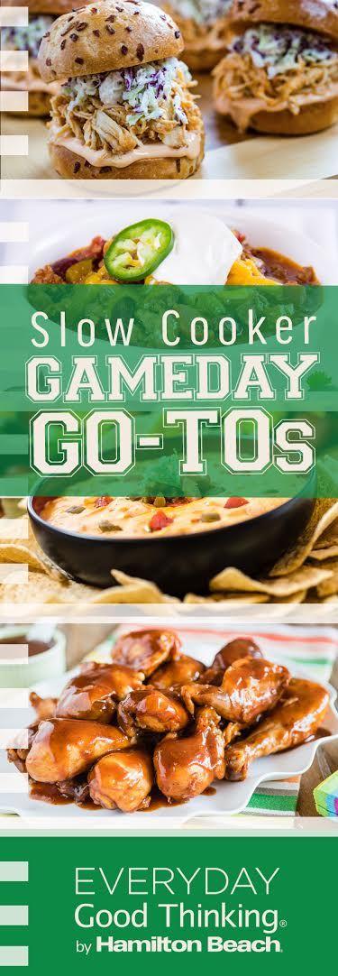 Slow Cooker Gameday Go-Tos Pinterest Graphic