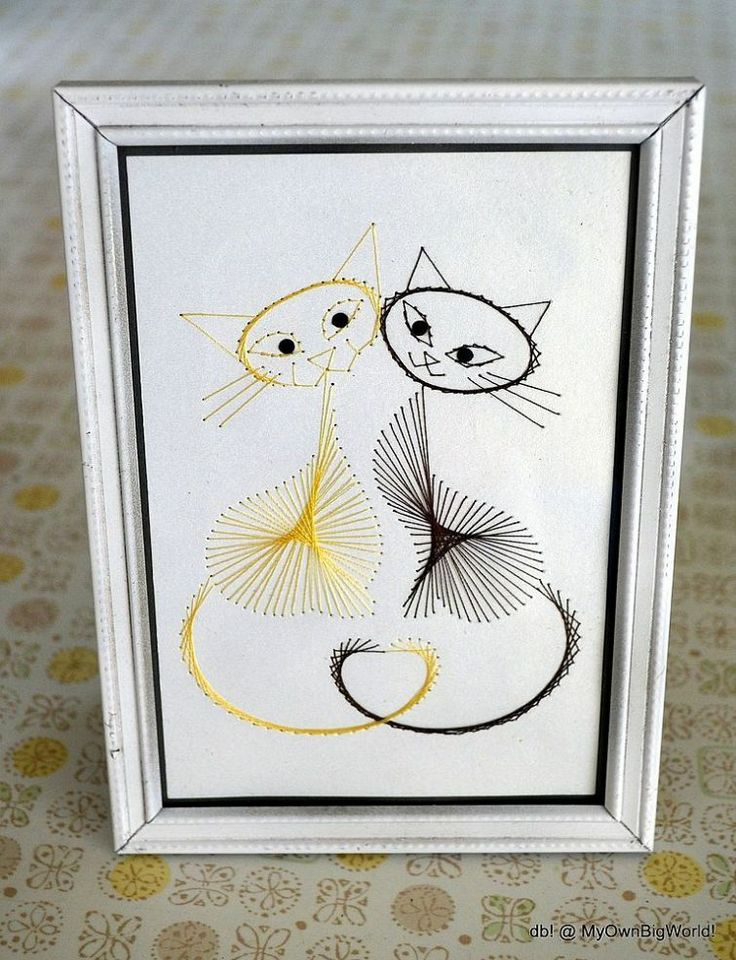 Kitty String Art Love