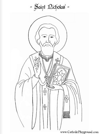 17 best images about st nicholas day on pinterest for St nicholas coloring pages