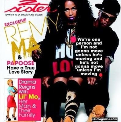 Remy Ma & Husband Papoose Cover Sister 2 Sister Magazine