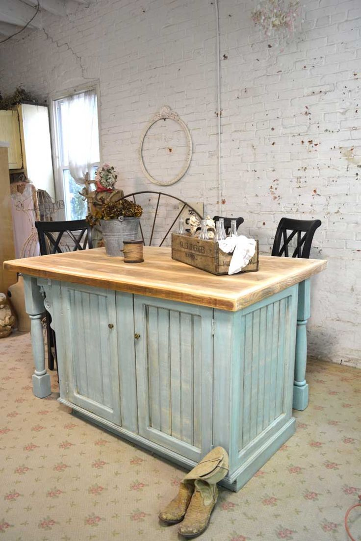 Cherry butcher block top 1 1 2 quot x 26 quot x38 quot kitchen island top ebay - Painted Cottage Chic Shabby Hand Made Farmhouse Kitchen Island By Paintedcottages On Etsy Https