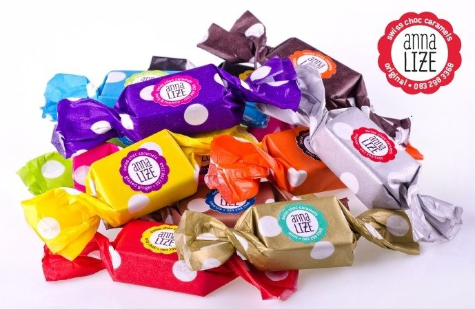 The perfect corporate gift, wedding or party favour, let us add your personalised brand. Delicious and pretty! www.anna-lize.co.za