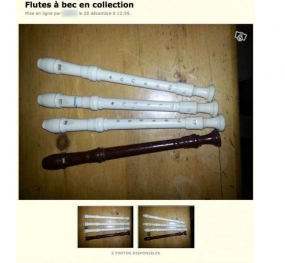 Des flûtes à bec collector