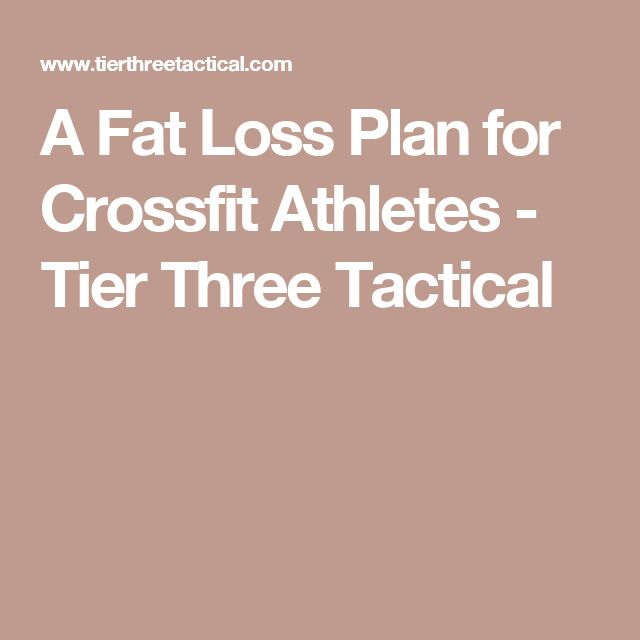 A Fat Loss Plan for Crossfit Athletes - Tier Three Tactical