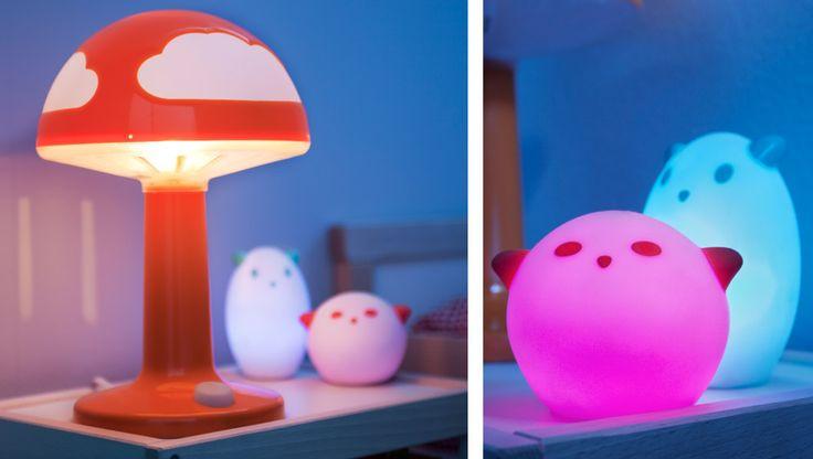 Ikea Godmorgon Tall Cabinet ~   Nachtlicht Tier weiß rot und SPÖKA LED Nachtlicht LED Tier weiß