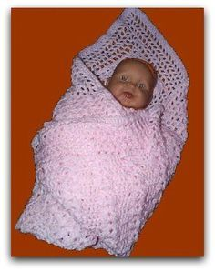 Unusual free crochet baby blanket. very easy for beginners