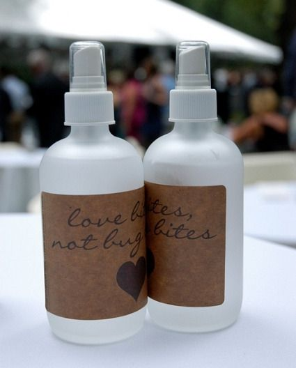 Too cute.. bug spray for outdoor weddings