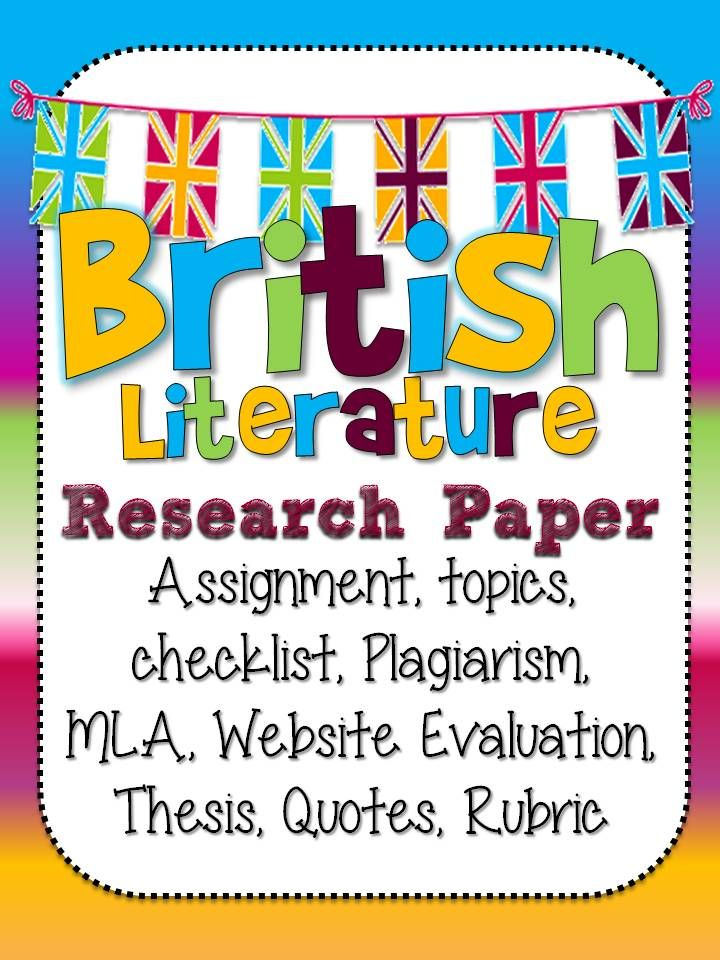 literature research paper assignment