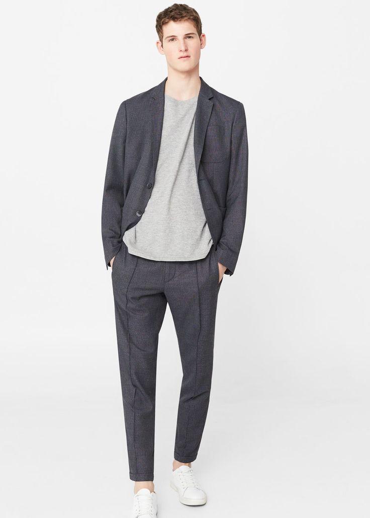 Veste de costume slim-fit déstructurée -  Homme | MANGO Man Belgique
