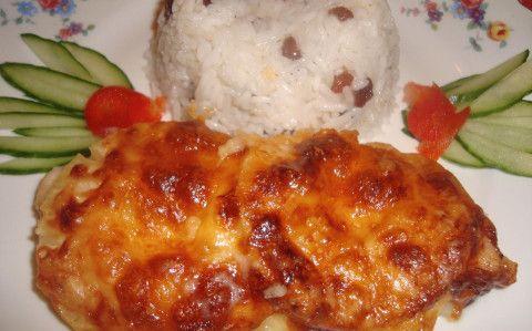 Ananászos csirkemell mazsolás rizzsel recept fotóval