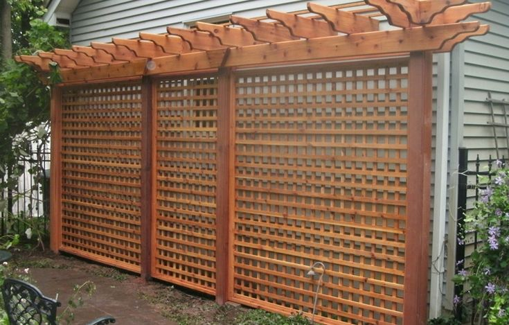 Custom cedar screen by Flamborough Patio