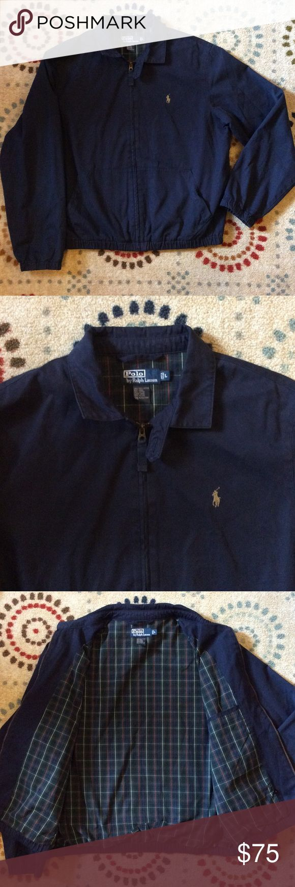 Men's Ralph Lauren Polo Jacket - Navy Blue Men's Ralph Lauren Polo jacket with lining. This jacket is in great condition. Great for the upcoming season. Polo by Ralph Lauren Jackets & Coats Lightweight & Shirt Jackets
