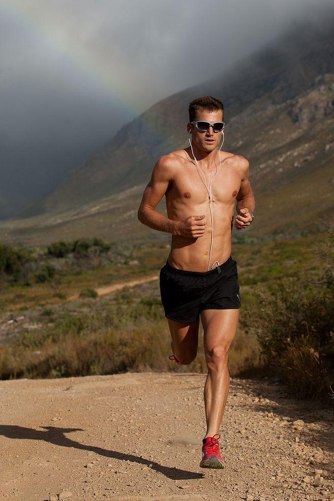"""Just keep running."" Fitness motivation."