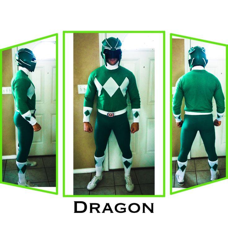 Homemade Green Power Ranger Costume