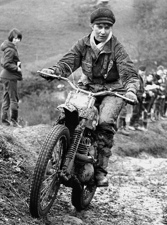 Mary Driver, pioneer trials woman rider.