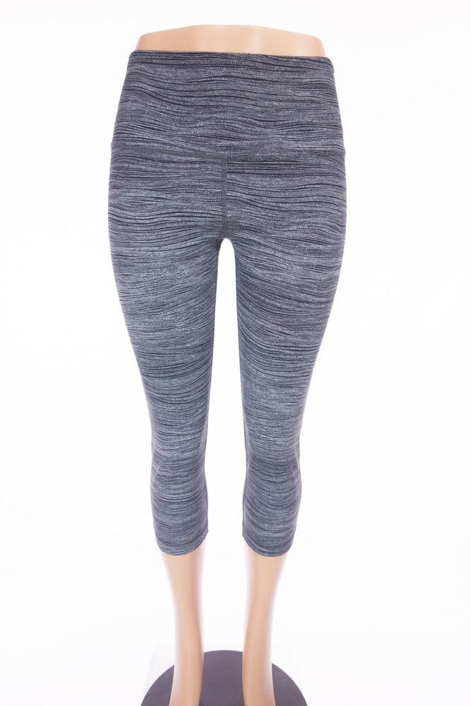 LULULEMON Wunder Under Crop High Rise Full On Luon 12 L Bit Point Ice Gray Black #Lululemon #PantsTightsLeggings