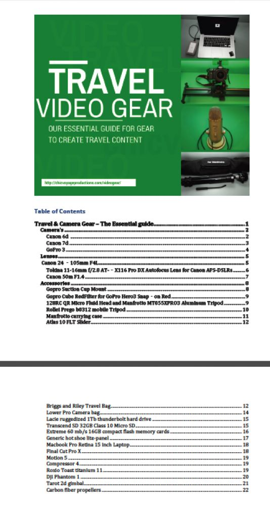 Travel video gear essential guide http://chicvoyageproductions.com/videogear/ #travel #gear #goodinfo