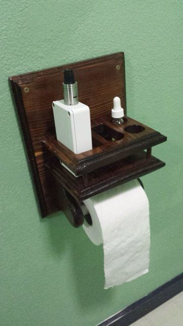 The greatest thing to vaping since the Vicious Ant Variant… The Vooper. The magical toilet paper, mod, and liquid holder. For those times when a glorious poo is enhanced by blowing an equally glorious cloud…