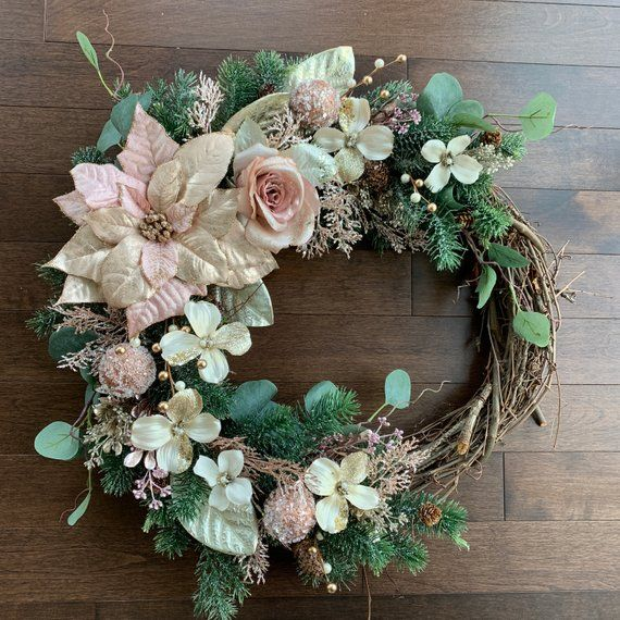 Winter Wreaths for Front Door, Southern Wreaths for Front Door, Winter Wreath, J…