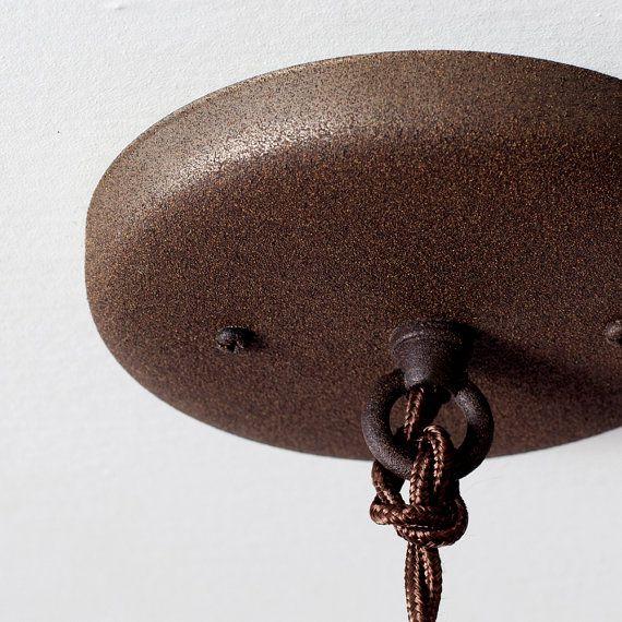 Ebonized Rust Finish Ceiling Canopy Kit // Pendant Light