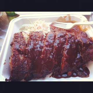 Ribs from Ottawa's annual Chicken and Rib Fest. I've been five years in a row, and I don't plan on stopping.