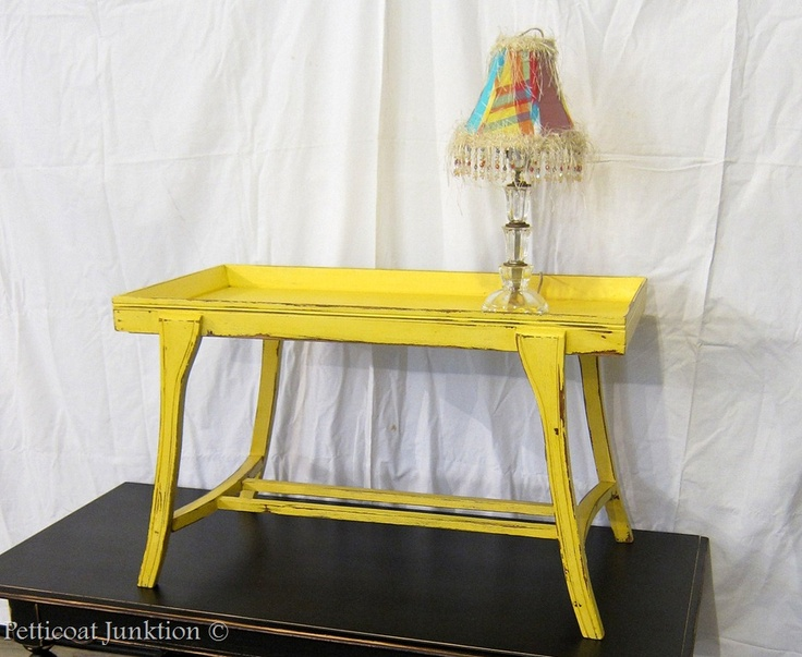 106 best furniture painted tables images on pinterest for Yellow painted table
